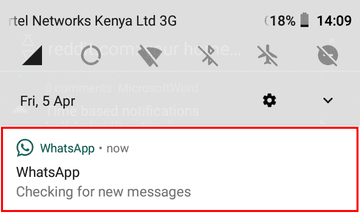 Checking for new messages notification