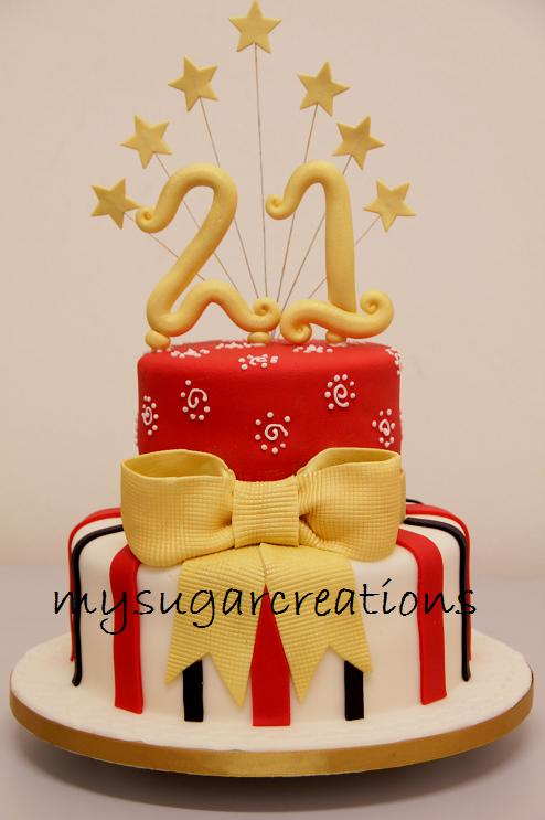 My Sugar Creations 001943746 M 21st Birthday Cake