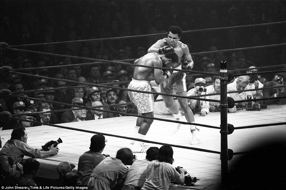 Muhammad Ali's historic 'Thrilla in Manila' match against Joe Frazier in 1975