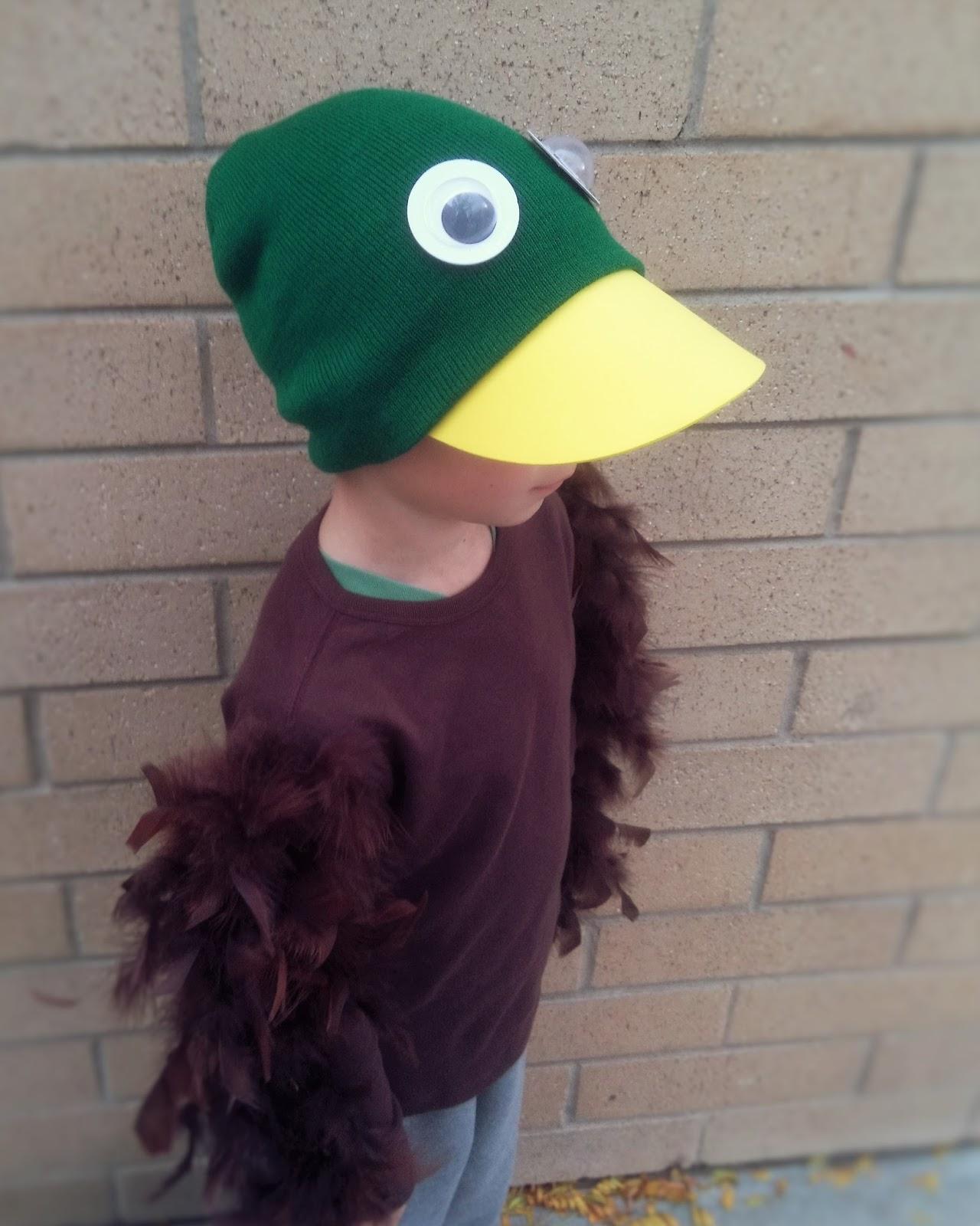Duck for Halloween costume & My Busy Beehives...: Mallard Duck Costume
