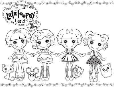 Desenhos para Colorir da Lalaloopsy – Imagens para Imprimir e Pintar