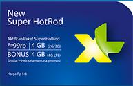 Kartu XL 4G LTE, XL 4G LTE, Paket XL 4G LTE, New Super HotRod 4G XL, tarif 4G LTE XL New Super HotRod