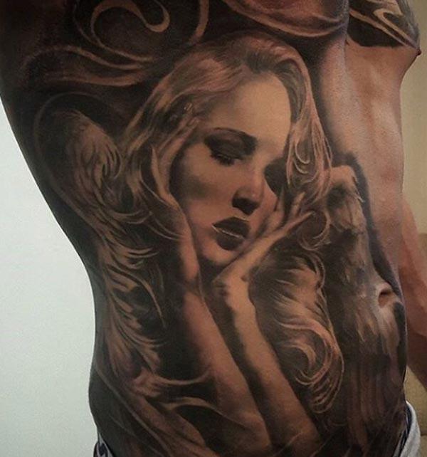 tattoo angel art for women