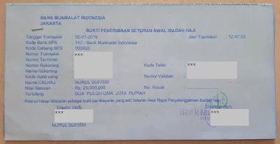 tanda bukti penerimaan setoran awal ibadah haji pengalaman saya dan suami buka tabungan haji bank muamalat indonesia syariah nurul sufitri social media mom blogger writer umroh