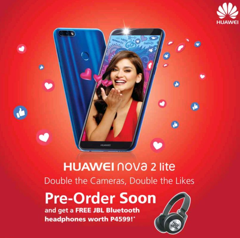 Huawei Nova 2 Lite Pre-order Promo, Get a Free JBL BT Headphones