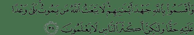 Surat An Nahl Ayat 38
