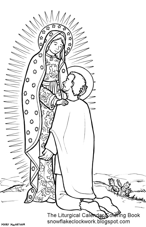 lady of guadalupe coloring pages - photo#3