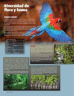 Apoyo Primaria Atlas de Geografía del Mundo 5to. Grado Capítulo 2 Lección 4 Diversidad de Flora y Fauna, Regiones Naturales