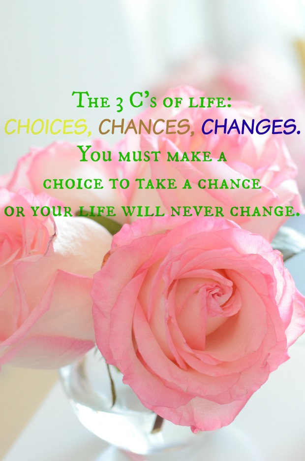 Life Choices Quote - Chances_Changes_Choices- Make your own choice and be happy with it