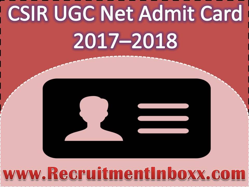 CSIR UGC Net Admit Card