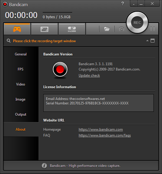 Bandicam 3.3.1.1191 Crack