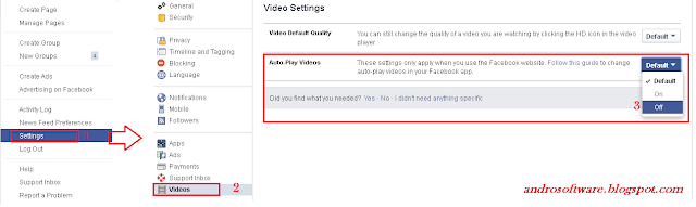 Cara Mematikan Autoplay Video di Facebook