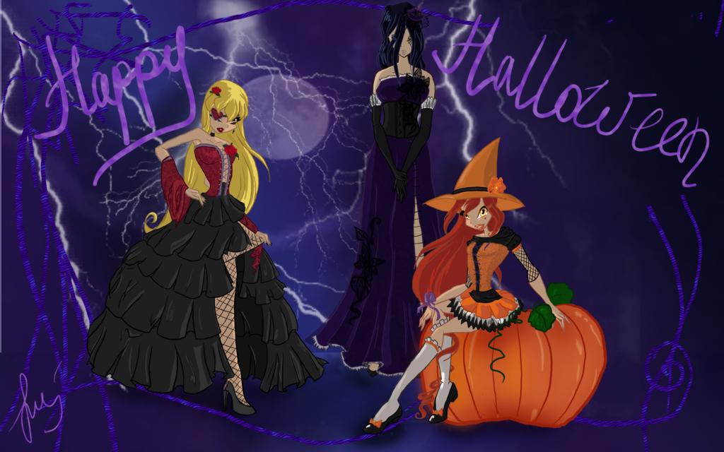 Wallpaper Gif Anime Wallpapers Happy Halloween 2011 Feliz Halloween