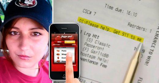 Mujer usó la aplicación de Pizza Hut para pedir ayuda