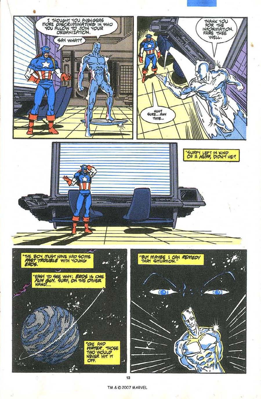 Read online Silver Surfer (1987) comic -  Issue #36 - 15