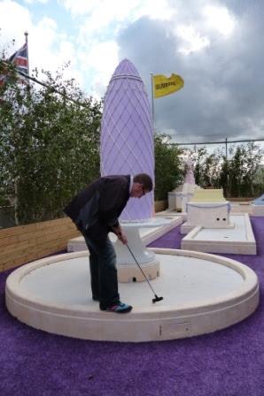 Rooftop Crazy Golf at Selfridges Department Store, London