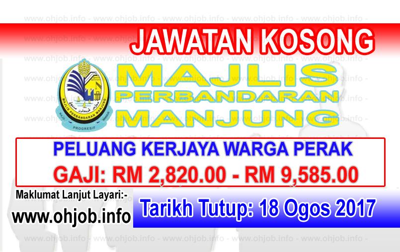 Jawatan Kerja Kosong Majlis Perbandaran Manjung logo www.ohjob.info ogos 2017