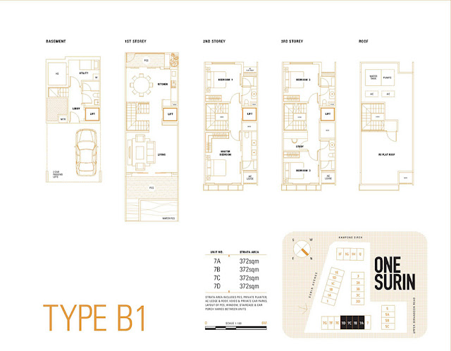 One Surin Type B1 Floor Plan