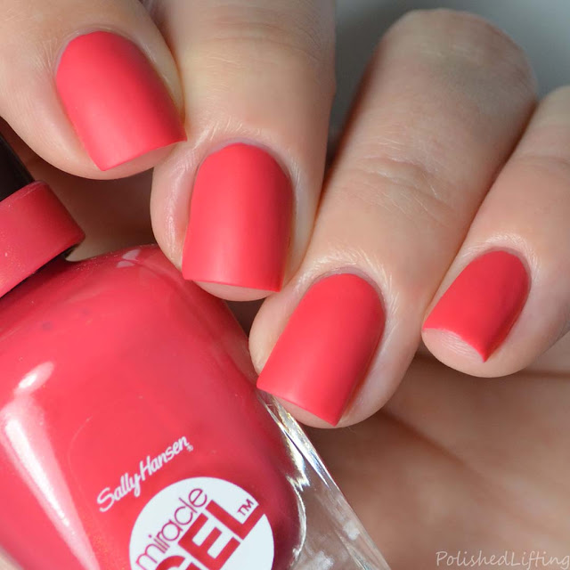 coral pink matte nail polish