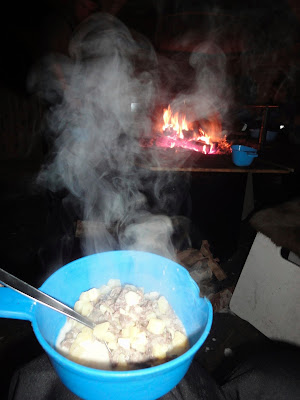 サーミ人が良く食べるらしい、トナカイとジャガイモのクリームシチュー。