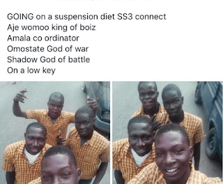 Secondary School Students Excited After Being Expelled From School – See Photos