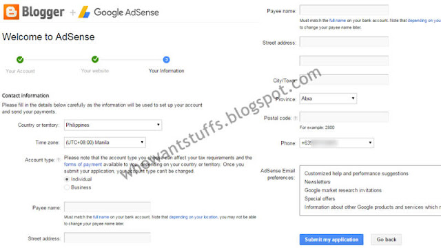 Your Information in Adsense