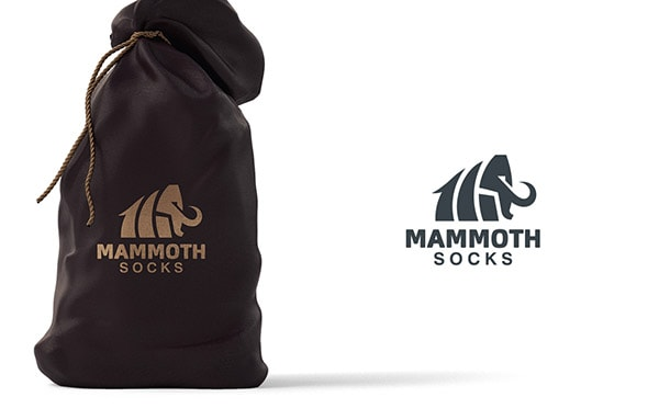 Inspirasi Desain Logo Kreatif 2017 - Mammoth Socks