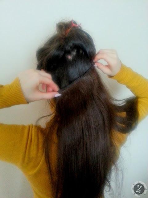 KROK 5: dopinamy doczepki włosów