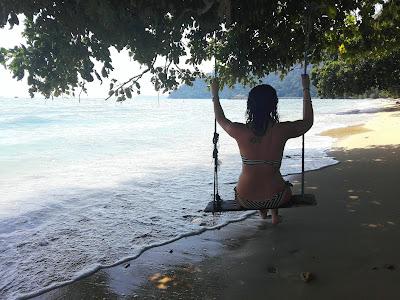hamaca en Isla Tioman, Malasia, playa ABC