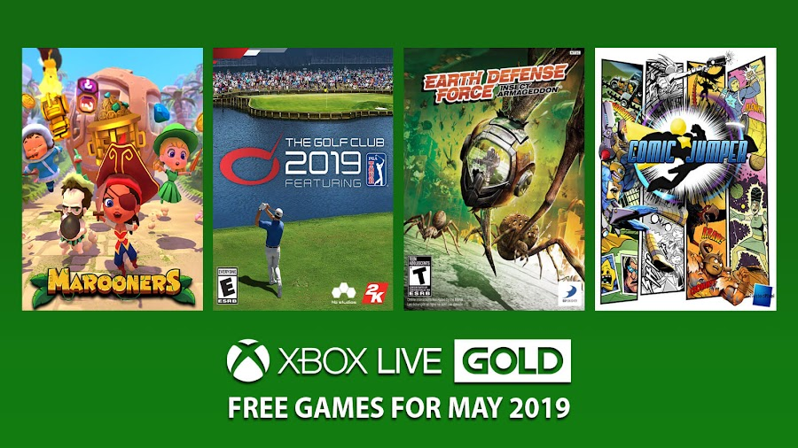 xbox live gold free games may 2019