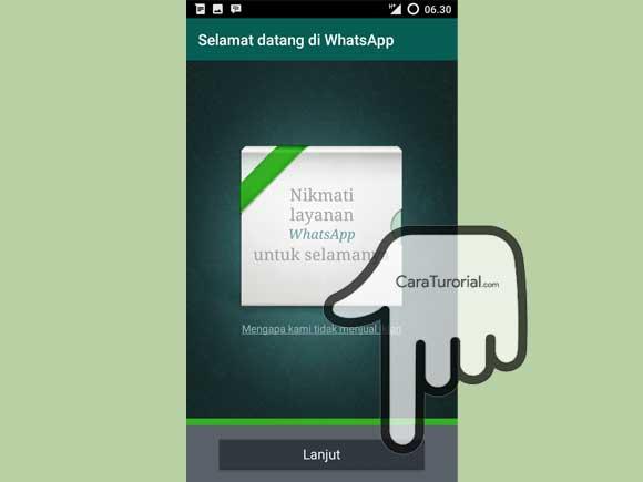 Berhasil membuat akun WhatsApp