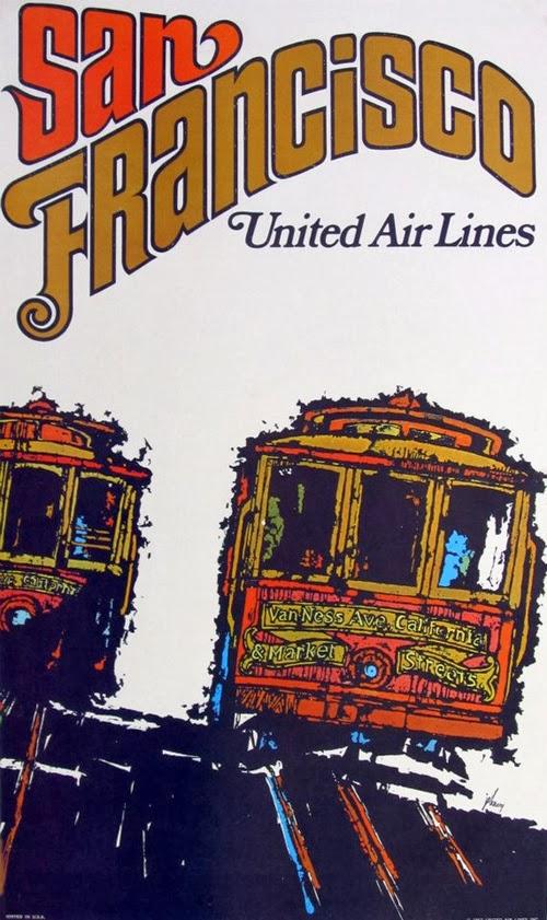 Beautiful Vintage San Francisco Travel Posters Vintage