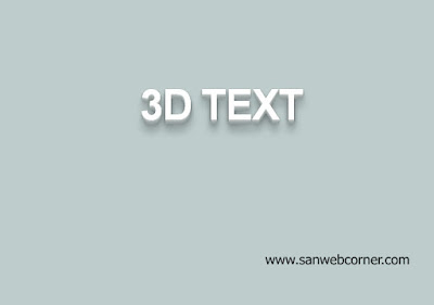 3D Drop Shadow for text using pure css