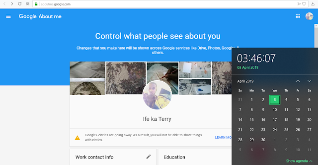 Google+ profile after deadline