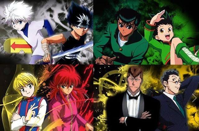 Gon, Killua, Leorio, Kurapika, Hiei, Kuwabara, Kurama, Yusuke