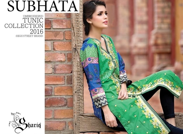 Subhata Embroidered Collection by Shariq Textiles