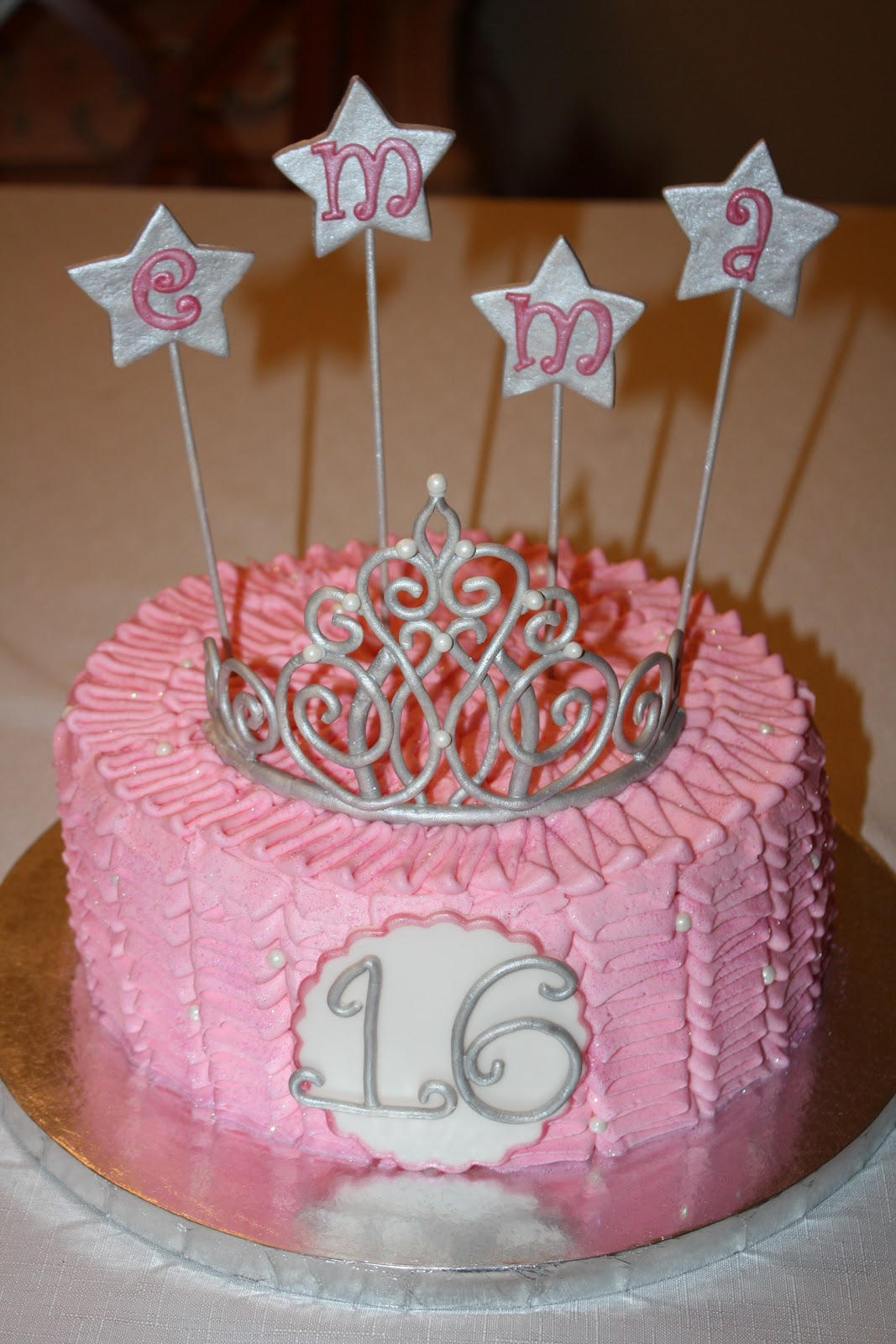 Dazzle Cakes Sweet 16 Princess Cake