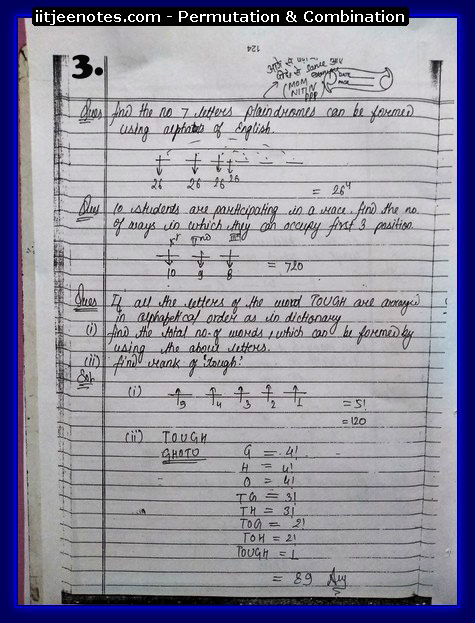 IITJEE Notes on Permutation & Combination3