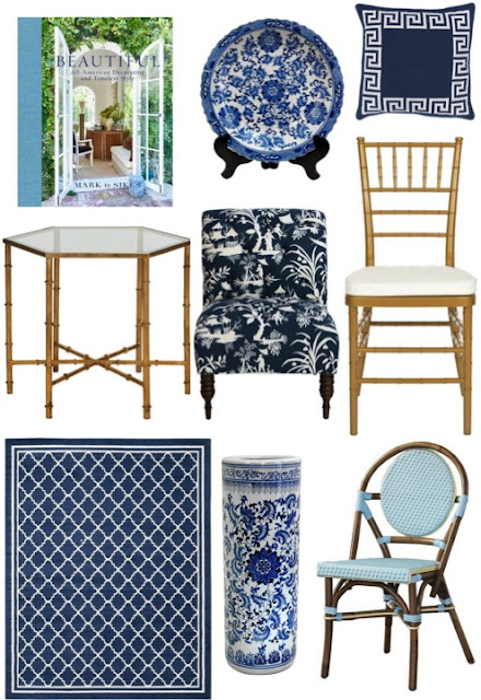 Blue and White Decor on a Budget