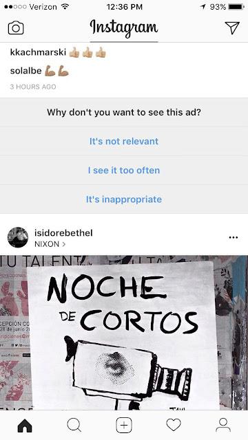 Comment bloquer les annonces du flux Instagram