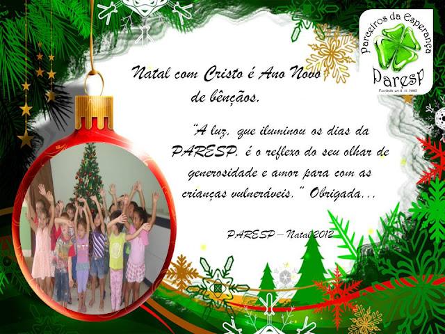 Mensagem De Natal Evangélica Para Amigos: BLOG DA PARESP: Mensagem De Natal Aos Nossos Amigos E