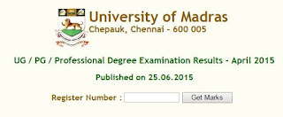 Madras University Board Exam Results