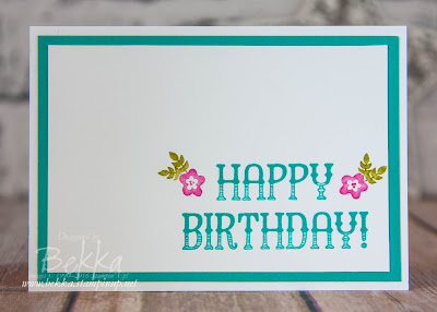Fast and Fabulous Birthday Card using Stampin' Up! UK Supplies, the Window Shopping Stamp Set which you can get here