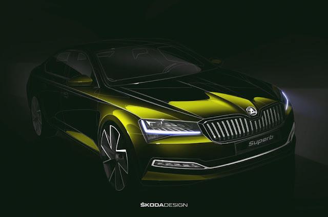 تعرف علي سيارة skoda superb في تصميمها الجديد