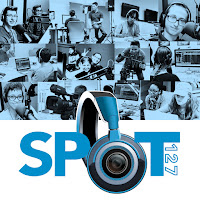 Spot 127 logo and montage of images of students working in multi-media settings