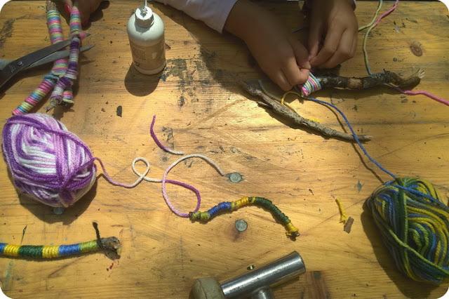 creare con la lana bambini