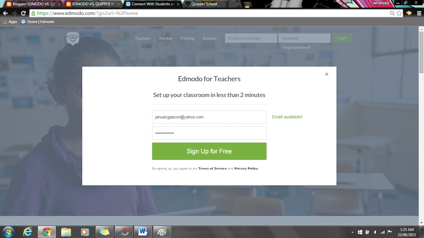 EDMODO VS  QUIPPER SCHOOL
