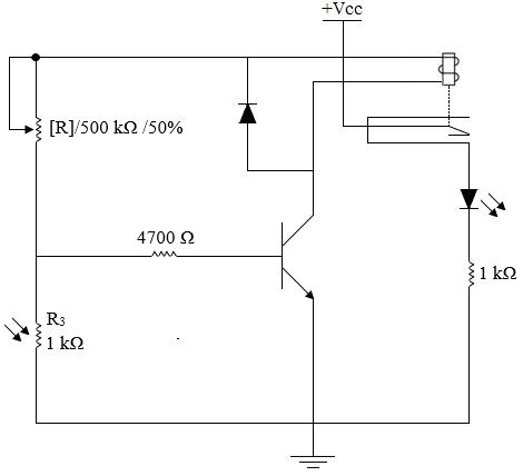 transistor sebagai saklar dalam aplikasi ldr