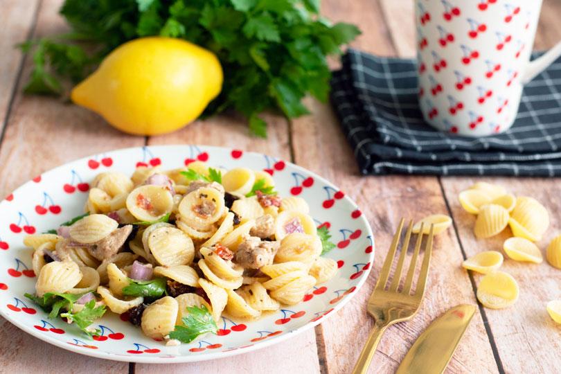 recette Salade au foie de morue