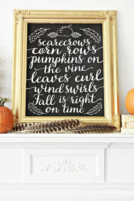 Free fall chalkboard printable